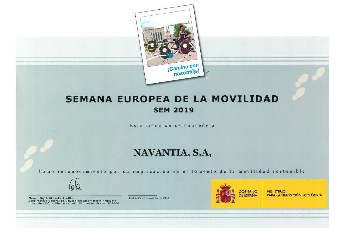 Mención especial a Navantia por su compromiso con la movilidad sostenible