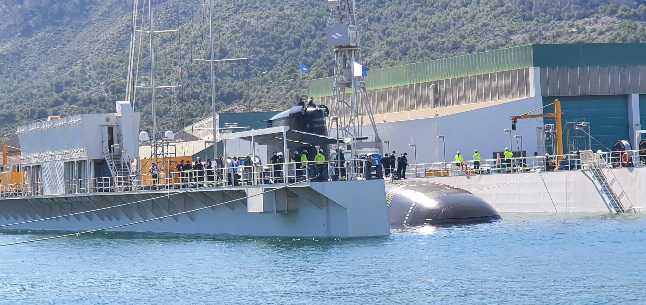 puesta flote submarino S-81 Isaac Peral