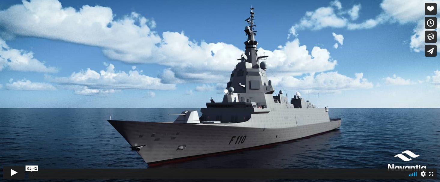 Vídeo fragata F-110
