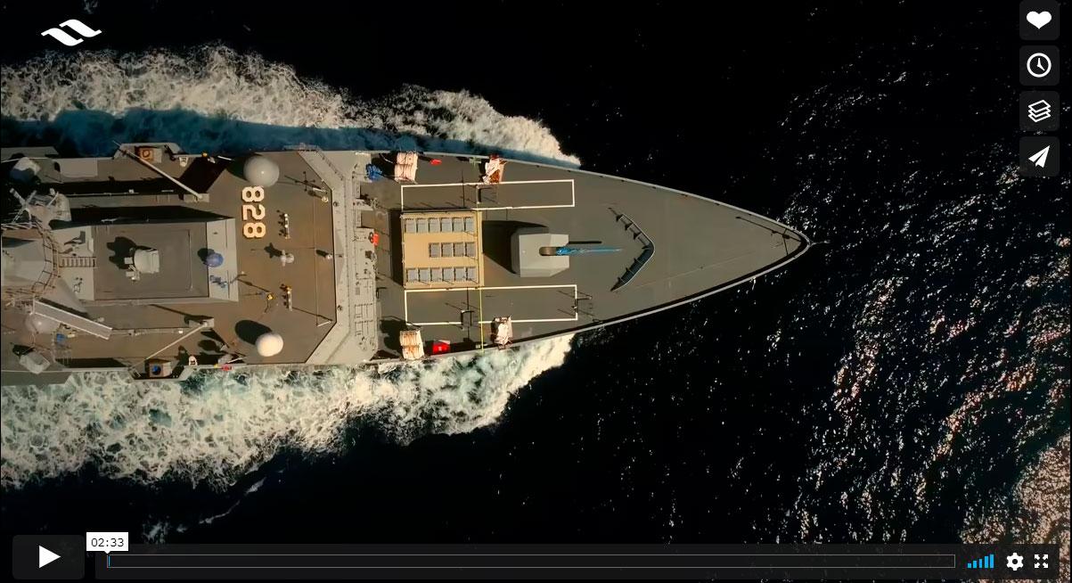 Pruebas de mar corbeta AL-JUBAIL